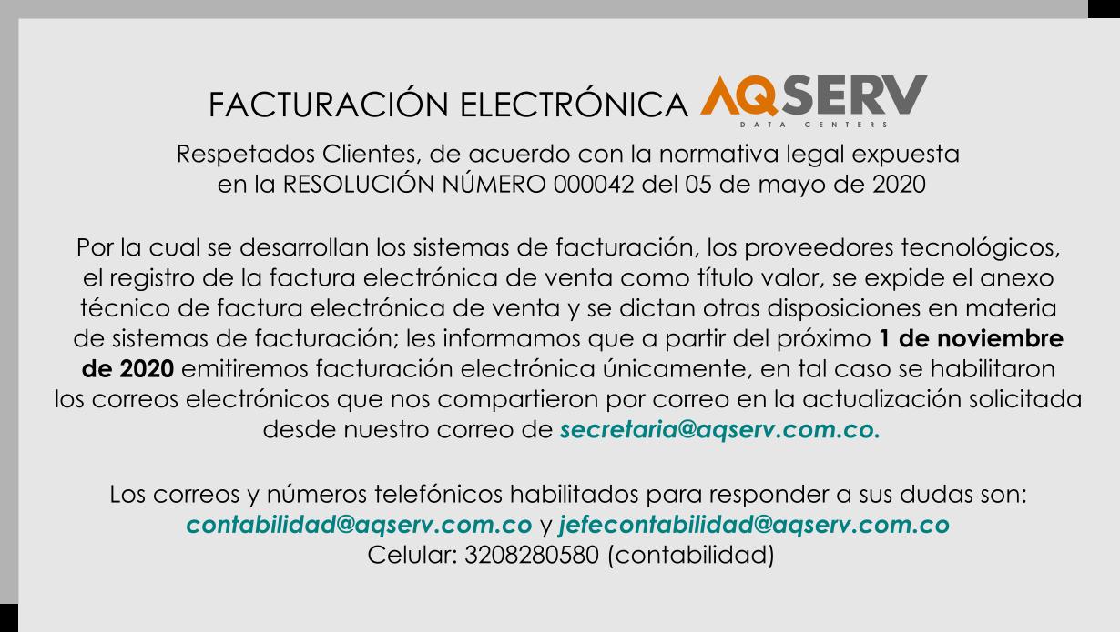 Facturacion Electronica AQSERV